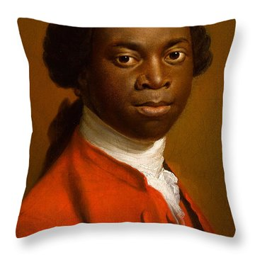 Portrait Of An African Throw Pillow by Allan Ramsay