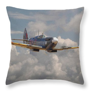 Portrait Of An Icon Throw Pillow by Pat Speirs