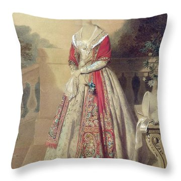 Portrait Of An Unknown Lady  Throw Pillow