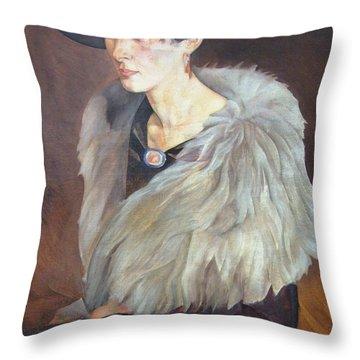 Portrait Of Anna Grilikhes Throw Pillow