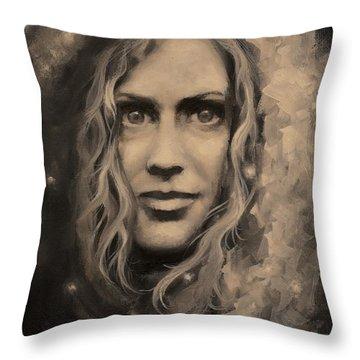 Portrait Of Annie Throw Pillow