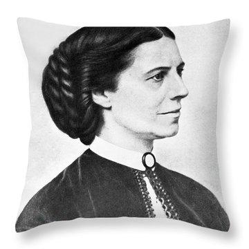 Portrait Of Clara Barton Throw Pillow