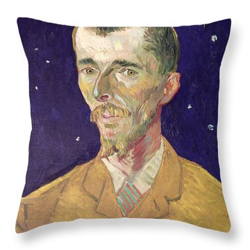 Portrait Of Eugene Boch Throw Pillow by Vincent Van Gogh