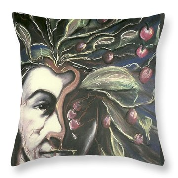 Self Portrait  Throw Pillow by Carrie Maurer