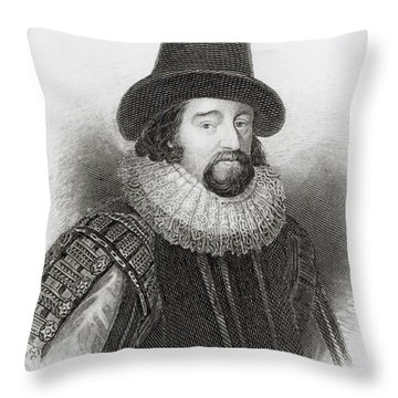 Portrait Of Francis Bacon Throw Pillow by English School