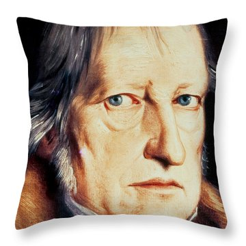 Portrait Of Georg Wilhelm Friedrich Hegel Throw Pillow