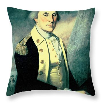 Portrait Of George Washington Throw Pillow by James the Elder Peale