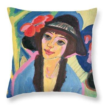 Portrait Of Gerda Throw Pillow