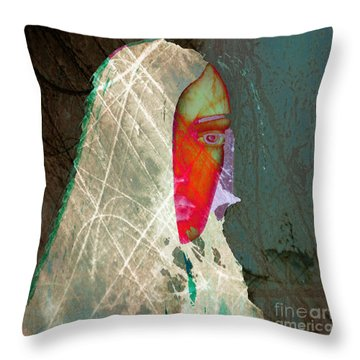 Portrait Of Horror Throw Pillow