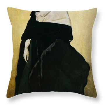 Portrait Of Ida Lvovna Rubinstein Throw Pillow by Leon Bakst