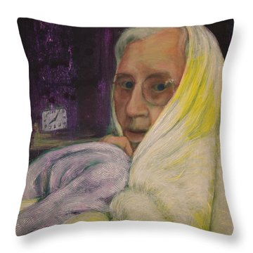 Portrait Of Jane Starner Throw Pillow