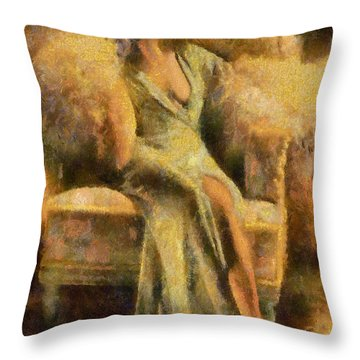 Portrait Of Jean Harlow Throw Pillow