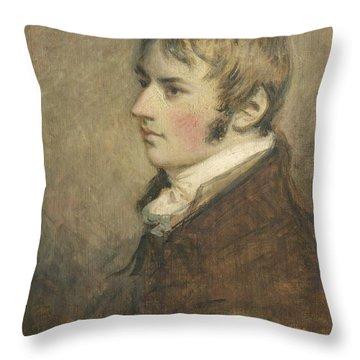 Portrait Of John Constable Aged Twenty Throw Pillow by Daniel Gardner