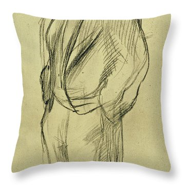 Portrait Of Ludovic Halevy Throw Pillow by Edgar Degas
