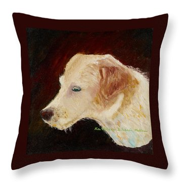 Throw Pillow featuring the painting Portrait Of Luke by KLM Kathel