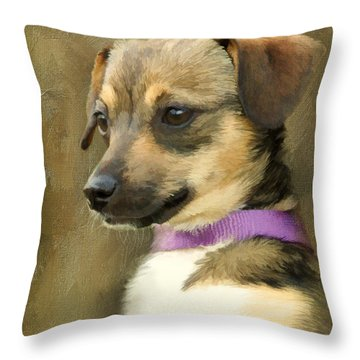 Portrait Of Maizie Throw Pillow by Jayne Carney
