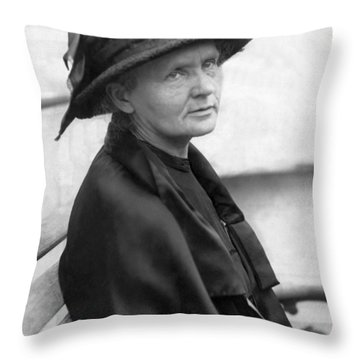 Portrait Of Marie Curie Throw Pillow
