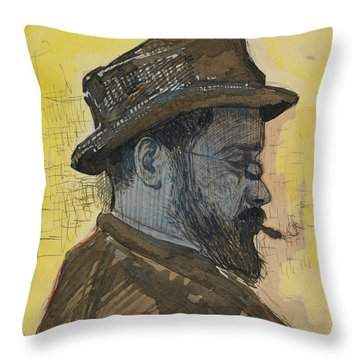 Portrait Of Maximilien Luce Throw Pillow by Paul Signac