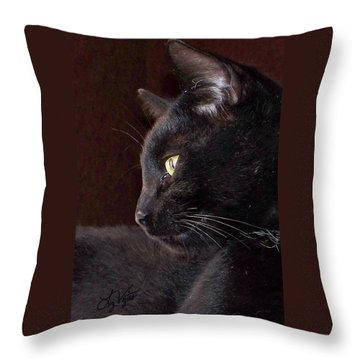 Portrait Of My Boy Charlie Throw Pillow