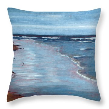 Portrait Of Ogunquit Throw Pillow by Trina Teele
