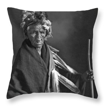 Portrait Of Old Wrinkle Meat Throw Pillow