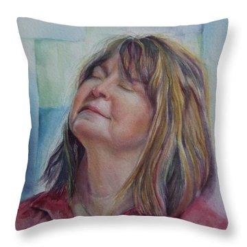 Portrait Of Peg Throw Pillow