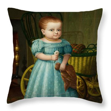 Portrait Of Sally Puffer Sanderson Throw Pillow