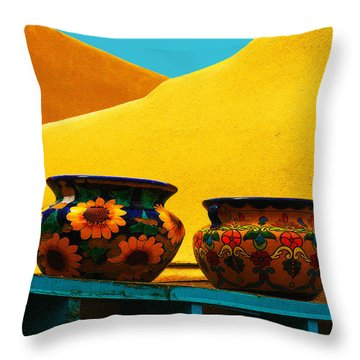 Portrait Of Taos Throw Pillow