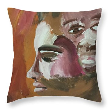 Ptg   Portrait Of Teenagers Throw Pillow