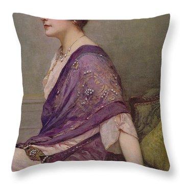Portrait Of Th Ecourturier Madame Paquin Throw Pillow by Henri Gervex