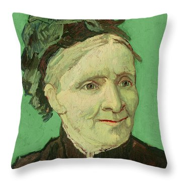 Portrait Of The Artist's Mother Throw Pillow by Vincent van Gogh
