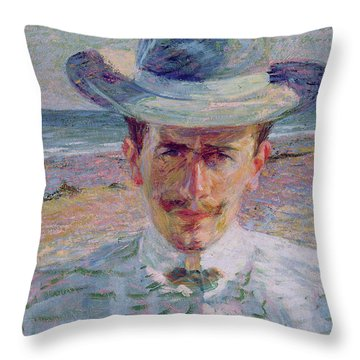 Portrait Of The Lawyer Throw Pillow by Umberto Boccioni