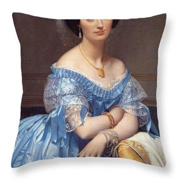 Portrait Of The Princesse De Broglie Throw Pillow