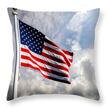 Portrait Of The United States Of America Flag Throw Pillow