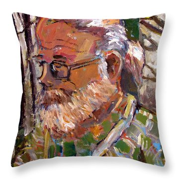 Portrait Of Tim Throw Pillow by Charlie Spear
