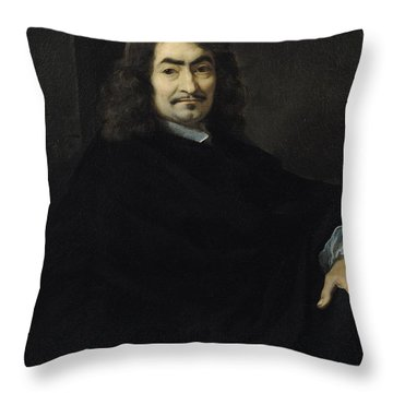 Portrait Presumed To Be Rene Descartes Throw Pillow