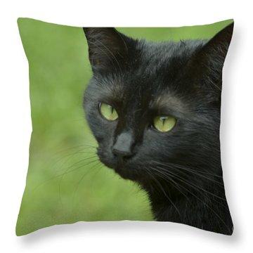 Portrait Of Satin Throw Pillow