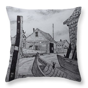 Portside Memories Throw Pillow