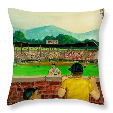 Portsmouth Athletics Vs Muncie Reds 1948 Throw Pillow by Frank Hunter
