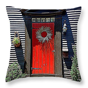 Portsmouth Door 2 Throw Pillow by Kevin Fortier