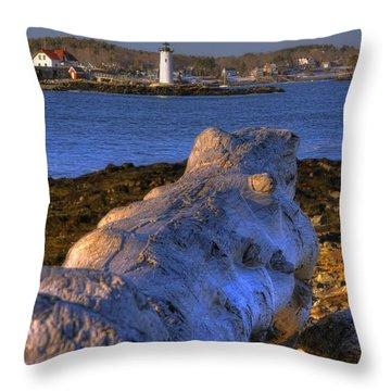 Portsmouth Harbor Light Throw Pillow by Joann Vitali