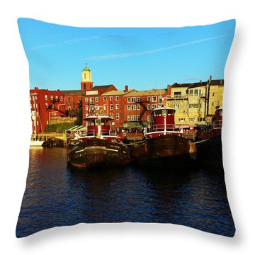 Portsmouth In The Afternoon Throw Pillow