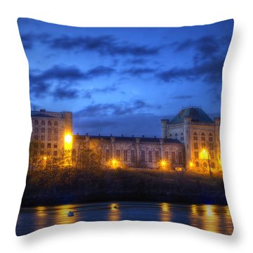Portsmouth Naval Prison Throw Pillow