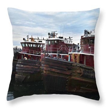 Portsmouth Tugs Throw Pillow