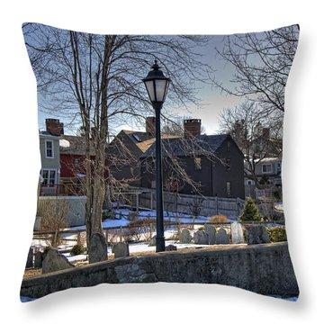 Portsmouth Winter Throw Pillow by Joann Vitali