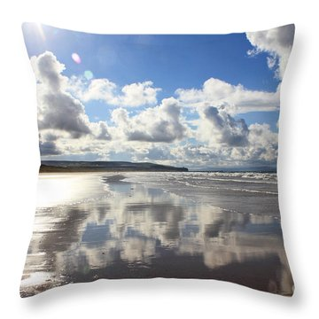 Portstewart Strand 4 Throw Pillow
