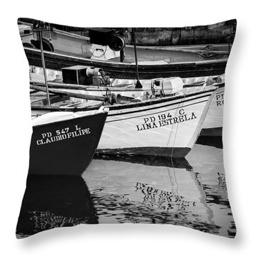 Portuguese Fishing Boats Throw Pillow