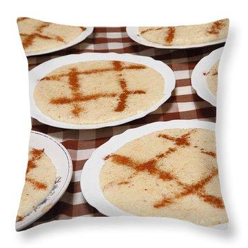 Portuguese Food Throw Pillow by Gaspar Avila