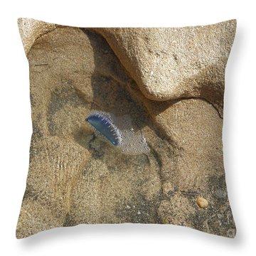 Portuguese Man O War Throw Pillow