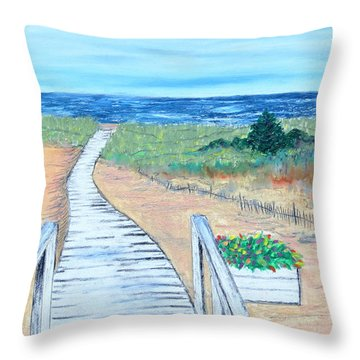 Portulaca Path Throw Pillow
